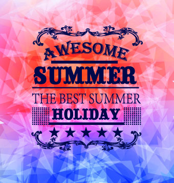 summer holidays with abstract background vector