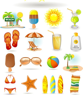 summer icon vector vector