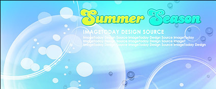 Summer Korean style background material layered psd-1