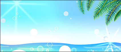 Summer Korean style background material layered psd-5
