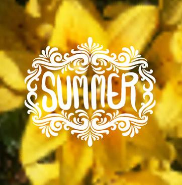 summer landscape natural background vector