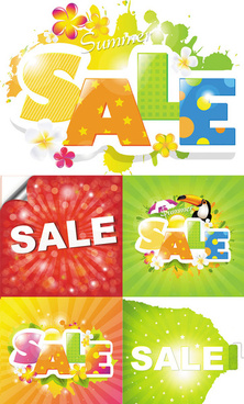 summer refreshing sale vector