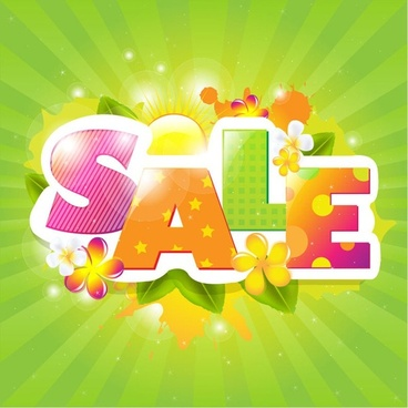 Summer Sale Poster Design Vector Illustration