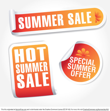 summer sale tag vectors