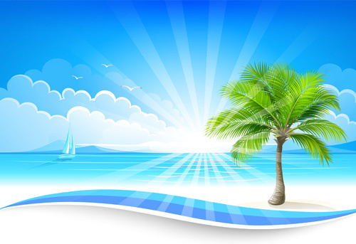 summer sea background art