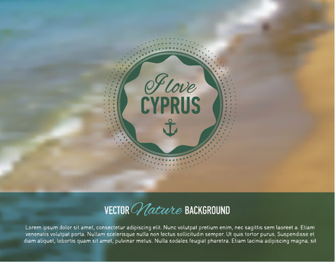 summer sea blurs background vector