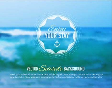 summer sea blurs background vector