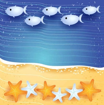 Summer sea fish background