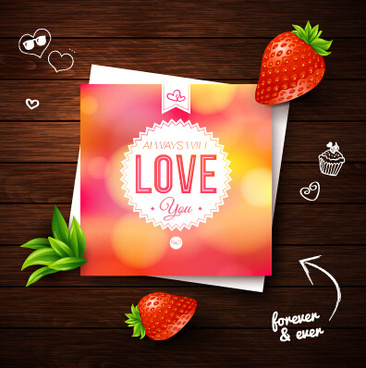 summer style wedding invitation background vector