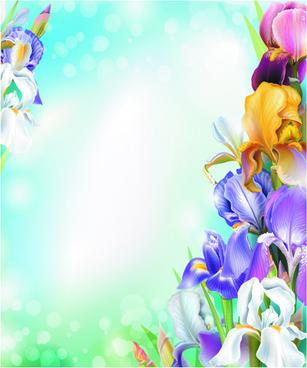 summer sunlight and flowers design vector