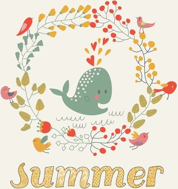 Summer Theme cartoon vector