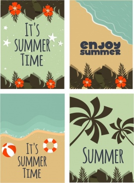 summer time background templates colored classical design