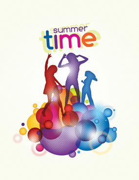 summer time vector graphic