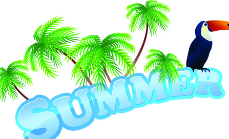 summer tourism illustration vector