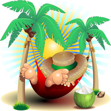 summer travel with holiday background art vector