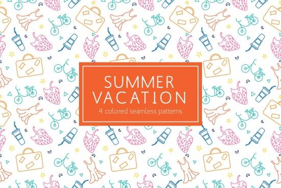 summer vacation vector pattern