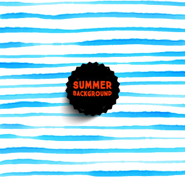 summer watercolor pattern vector