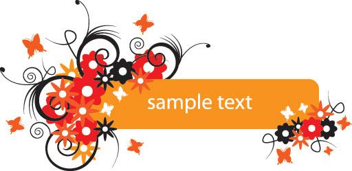 summerish banner vector graphic