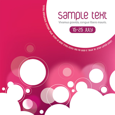 summerish flyer design vector graphic