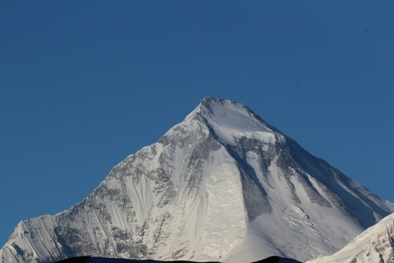 summit mountain snow caps
