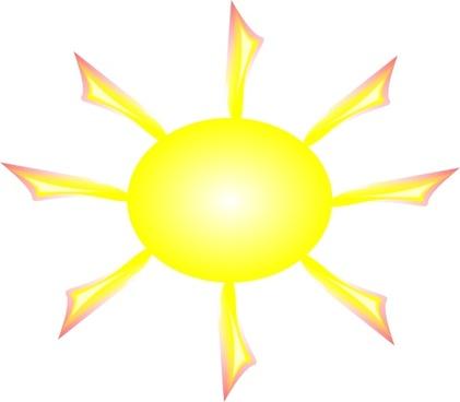 Sun And Rays clip art