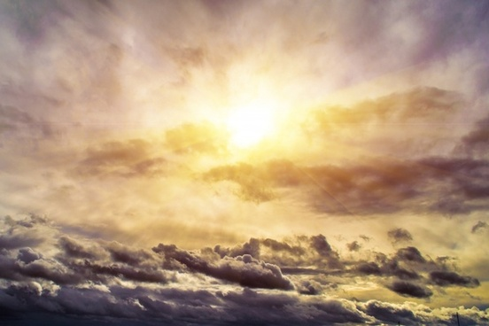 sun clouds rays