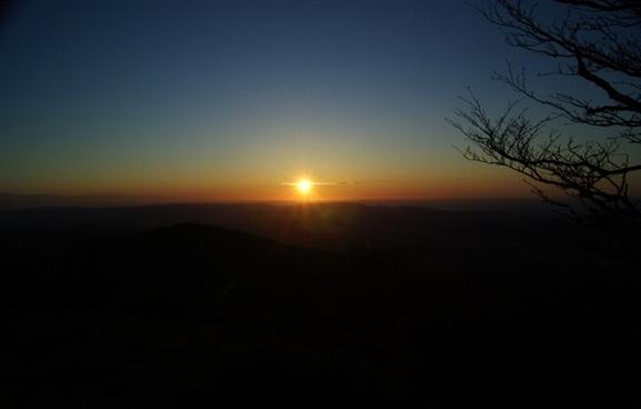 sun dawn sky