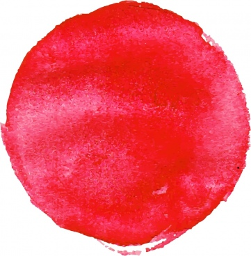 sun drawing red watercolor circle decor