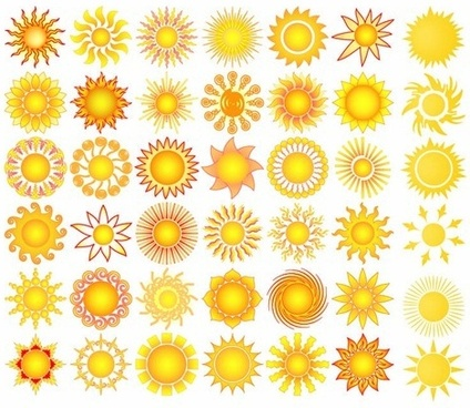 Sun Element Sign Symbol Abstract Free Vector Download 46200 Free