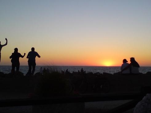 sun evening sunset