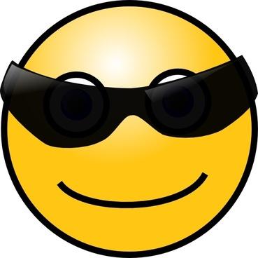 Sun Glasses Cool Smile clip art