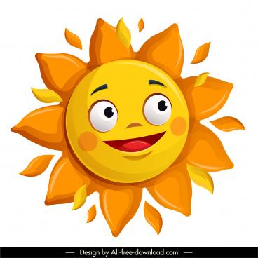 sun icon cute stylized cartoon sketch