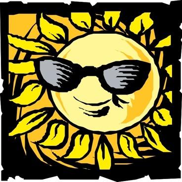 Sun In Shades clip art