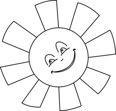 Sun Line Art