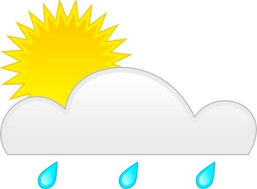 Sun Rain clip art
