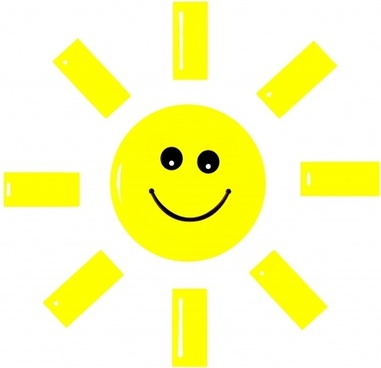 sun smile cartoon