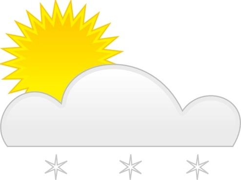 Sun Snow clip art
