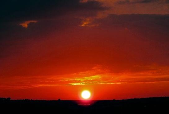 sun sunset afterglow clouds