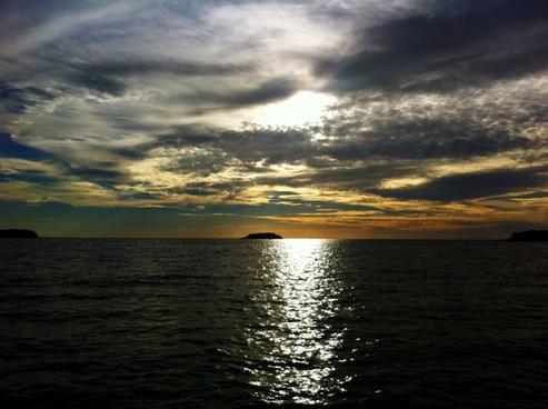 sun sunset clouds