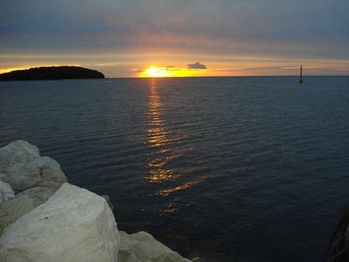 sun sunset croatia