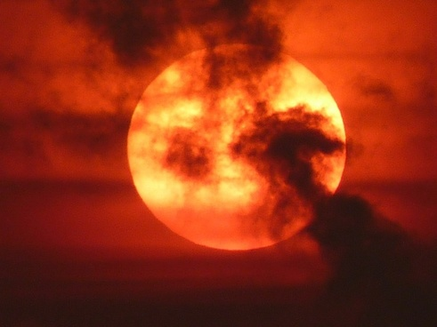 sun sunset red