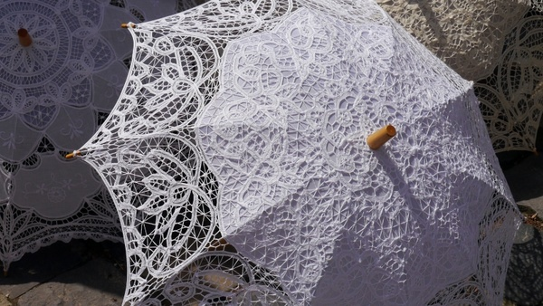 sun umbrellas lace fashion