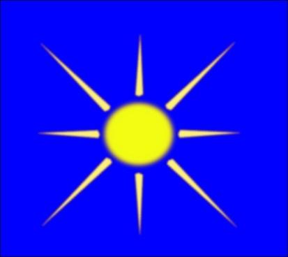 Sun With Blue Sky clip art