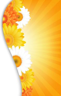 sunflower elements background vector