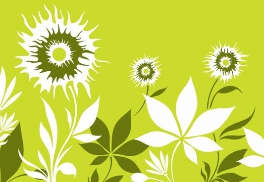 sunflower background white silhouette style