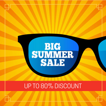 sunglass big summer sale banner