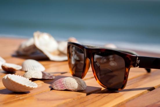 sunglasses at seaside
