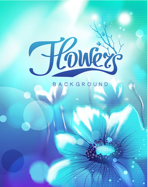 sunlight and flower shiny background vector