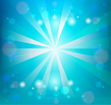 Sunlight on Blue Sky Vector Illustration