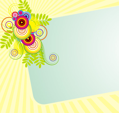 sunny banner vector graphic